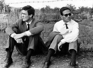 Bernardo Bertolucci e Pasolini (fonte: Wikipedia)